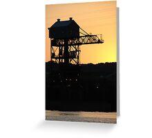 Gantry Crane Greeting Card