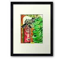 Outhouse Sentinel Framed Print