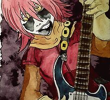 Black Metal Bass Girl by Artsworth