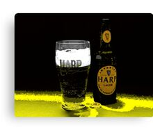 GLASS OF HARP IN ABSTRACT Canvas Print