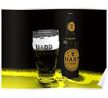 GLASS OF HARP IN ABSTRACT Poster