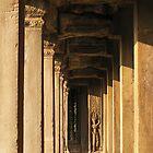 Apsara अप्सरा and Angkor Columns by fatfatin
