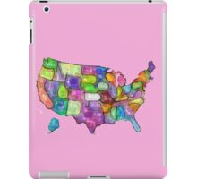 America map in water color iPad Case/Skin