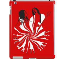 Candy Cane Children (on red) iPad Case/Skin
