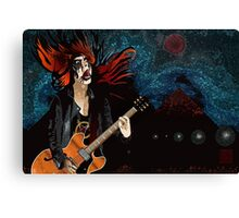 Black Metal Barbie Canvas Print