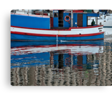 The early boat catches the fish Canvas Print