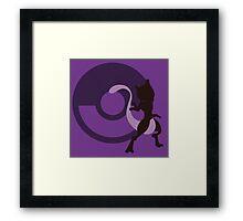 Mewtwo (Pokemon) - Sunset Shores Framed Print