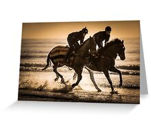 Amroth Beach Horse Riders Greeting Card