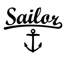 Sailor Anchor Black by theshirtshops