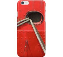 Red Ship Abstract iPhone Case/Skin