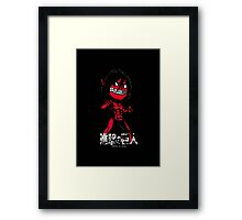 Attack on Chibi Framed Print