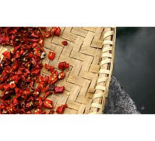 Peppers drying in the sun Photographic Print
