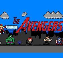 Avenging Heroes 8 bit by GraphXninja
