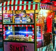 Late night snack wagon in Istanbul, by Tim Constable Sticker