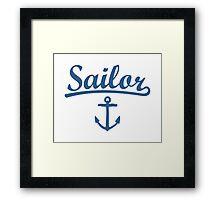 Sailor Anchor Navy Framed Print