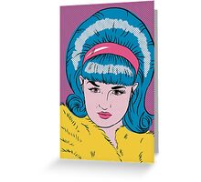 Miss Lacey Noel Design No. 1! (Bouffant) Greeting Card