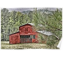 Red Barn in Georgia Poster