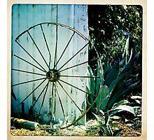 California farm wheel Photographic Print