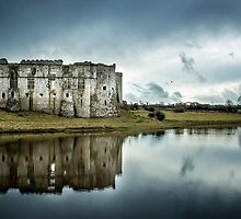 Carew Castle in Pembrokeshire by Simon West