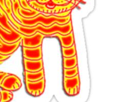 Ginger Cheshire cat Sticker