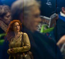 Train Reflections by Aaron  Sheehan