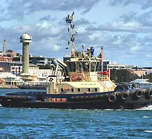 Newcastle Harbour NSW Australia - Svitzer Hamilton Tug by Phil Woodman