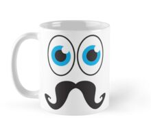 Senior MUSTACHE man with blue eyes Mug