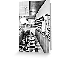 The Diner. Greeting Card