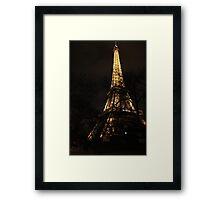 Eiffel Tower at Night Framed Print