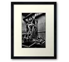 Elegantly Wasted - The Forgotten Staircase Framed Print