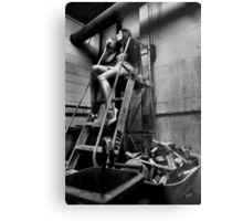 Elegantly Wasted - The Forgotten Staircase Metal Print