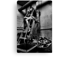 Elegantly Wasted - The Forgotten Staircase Canvas Print
