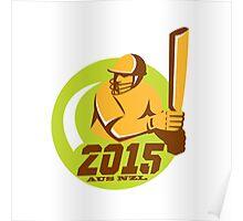 Cricket 2015 Australia New Zealand Circle Poster