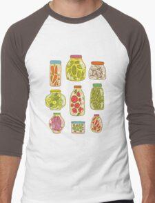 Autumn pickled vegetables Men's Baseball ¾ T-Shirt