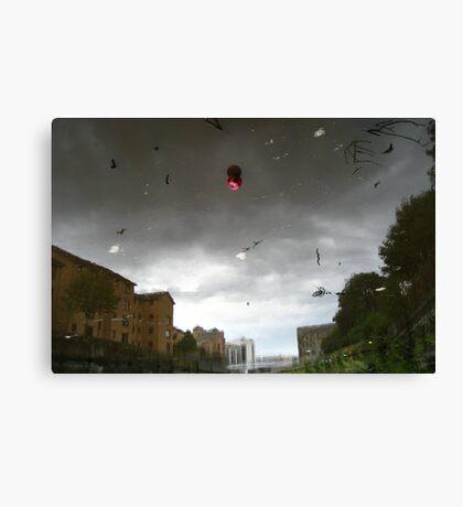 Strange Sky, Red Ball Canvas Print