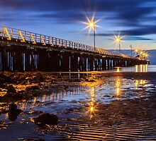 Pier in the Blue Hour by Silken Photography