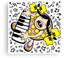 piano baby Canvas Print