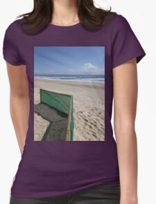 Beach Fence Womens Fitted T-Shirt