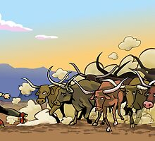 You Can't Roller-Skate in A Buffalo Herd by TheFrase