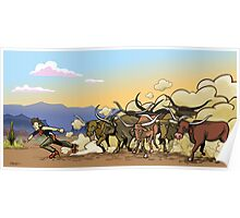 You Can't Roller-Skate in A Buffalo Herd Poster