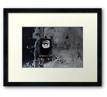 Burnt Meter Framed Print