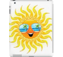Summer Sun Cartoon with Sunglasses iPad Case/Skin
