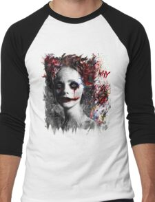 Harley Quinns valentines day Men's Baseball ¾ T-Shirt