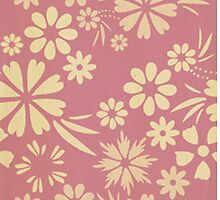Floral, soft, girly, chic, pink, peach, trendy, pattern, template, customizable by Healinglove