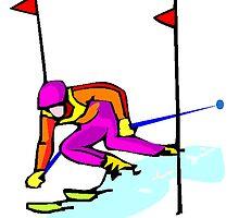 Ski Racing by kwg2200