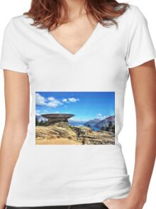 Basket of Dreams Women's Fitted V-Neck T-Shirt