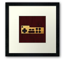 Nes Controller Wood Texture Framed Print