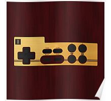 Classic wood Nes Controller Poster