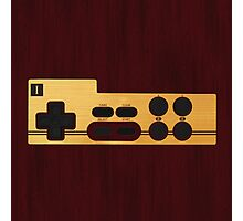 Nes Controller Wood Texture Photographic Print