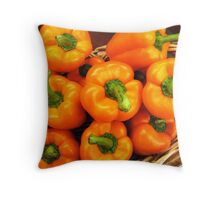 Pile of Peppers Throw Pillow